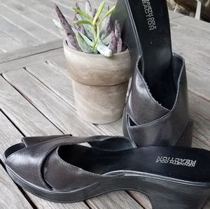 Kenneth Cole Reaction slip on open toe shoes 8.5